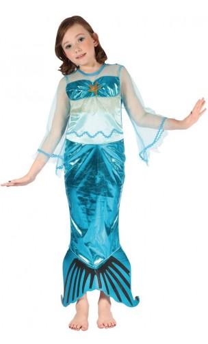 Déguisement sirène bleue enfant