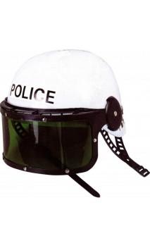 Casque de police blanc