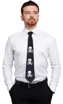Cravate tête de mort