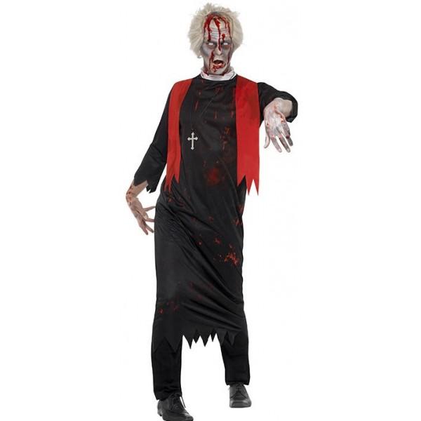 Déguisement prêtre zombie