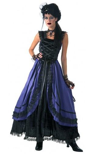 Robe gothique noire et violette