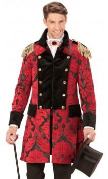 Veste cirque jacquard rouge