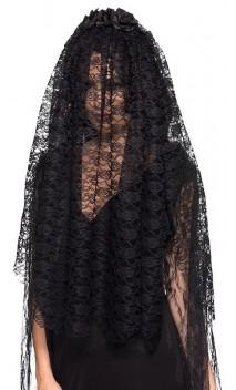 Serre tête voile de veuve noire