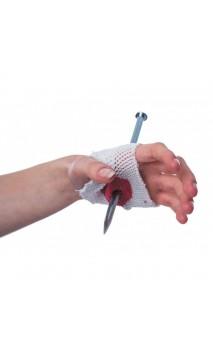 Clou Dans Main Avec Bandage