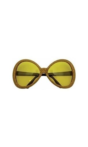 Lunettes Disco dorée