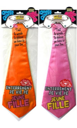 Cravate EVDJF - Enterrement vie de jeune fille