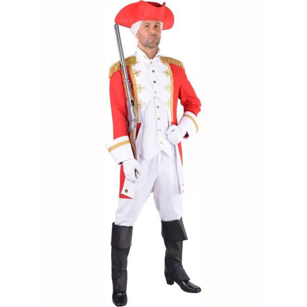 Déguisement officier garde royale rouge