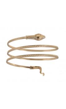 Bracelet égyptien serpent doré