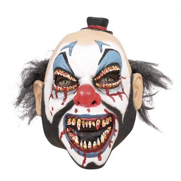 Masque clown sanglant intégral latex