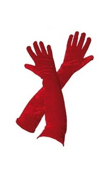 Gants longs rouge 53 cm