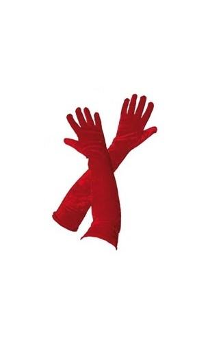 Gants long Rouge