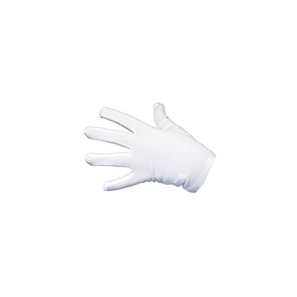 Gants blanc tissus