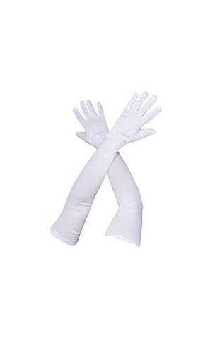 Gants longs Blanc