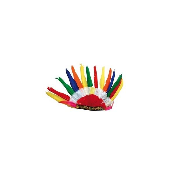 Coiffe indien multicolore