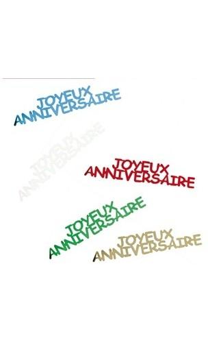 Confettis de table Anniversaire