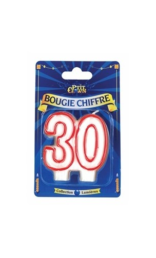 Bougie chiffre 30