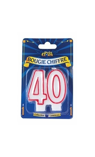 Bougie chiffre 40