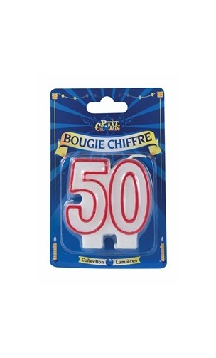 Bougie chiffre 50