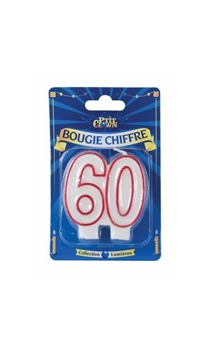 Bougie chiffre 60