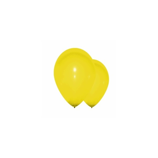 10 ballons jaune