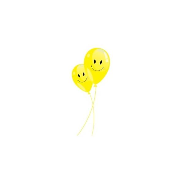 10 ballons Emoticone jaune