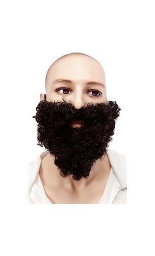 Barbe et moustache frisée