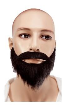 Moustache et collier noir