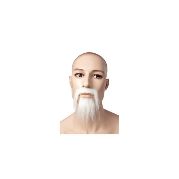 Moustache chinois blanc