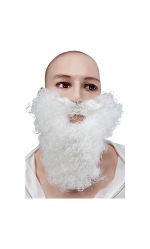 Barbe et moustache blanc