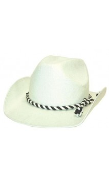 Chapeau Cowboy blanc  2