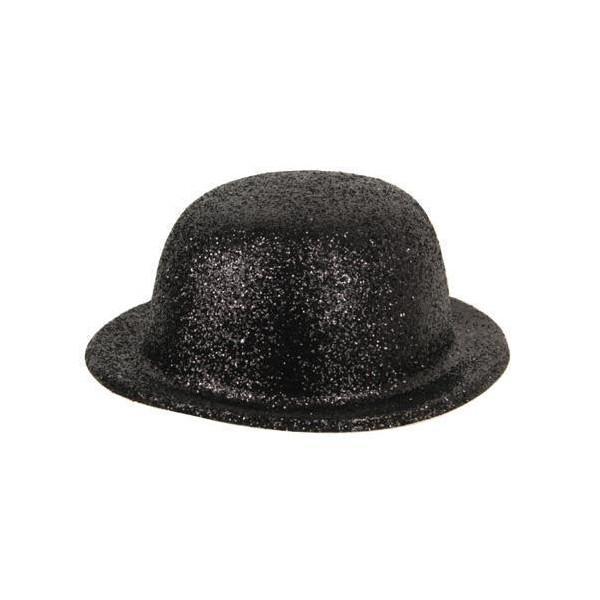 Chapeau Melon noir pailletés