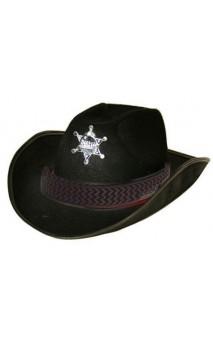 Chapeau shérif noir adulte