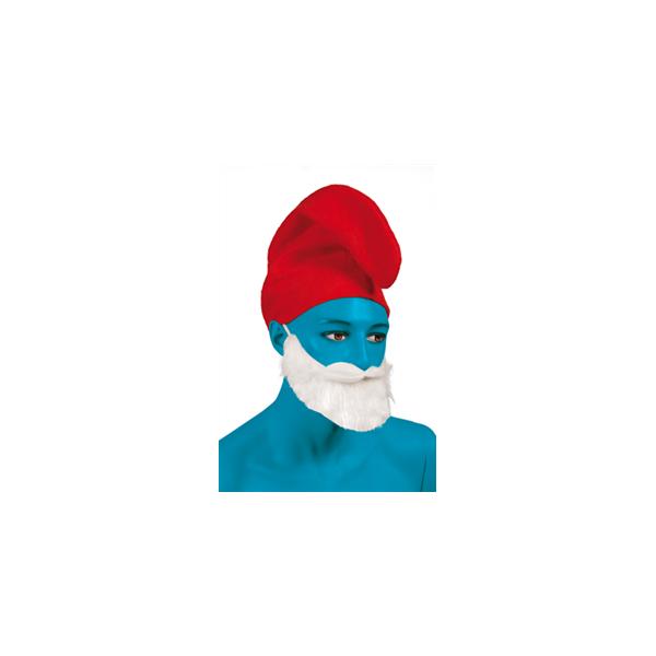Bonnet grand Schtroumpfs rouge