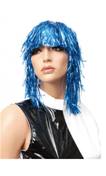 Perruque Lamé Bleu