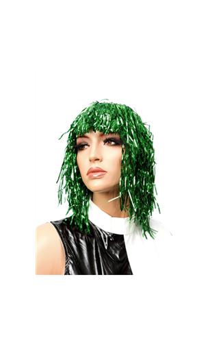 Perruque Lamé Vert