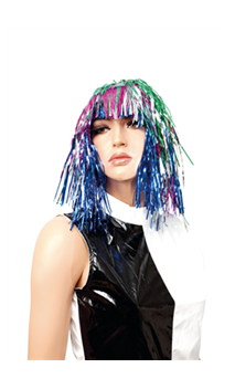 Perruque Lamé Multicolore