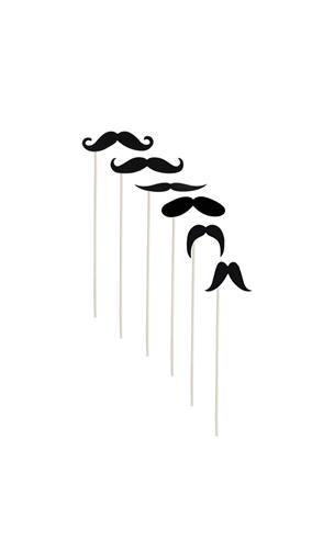 Moustache sur bâton