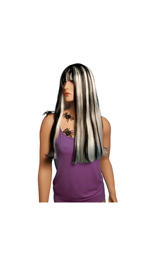 Perruque Alicia Noire / Blanc