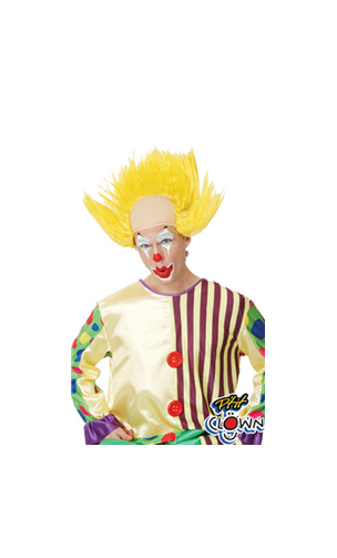 Perruque Crane de Clown Jaune