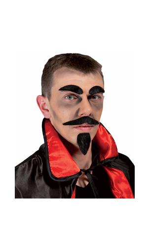 Moustache et Barbichette Diable