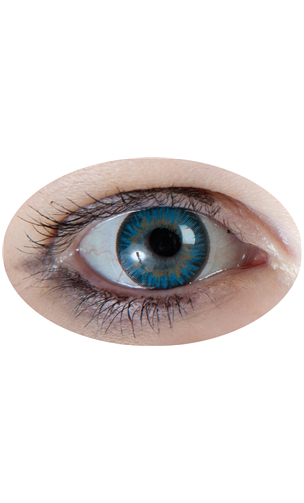 Lentille Iris Bleu