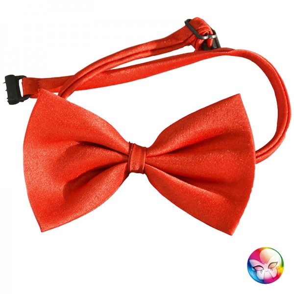 Noeud papillon rouge be happy - Noeud papillon rouge enfant ...